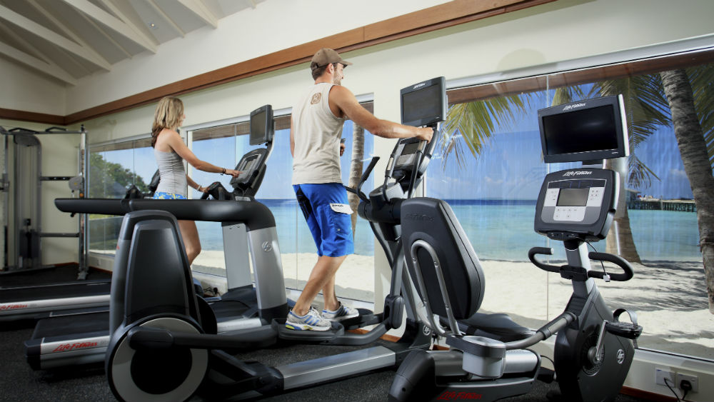 fitness centre at the Centara Ras Fushi Resort and Spa Maldives