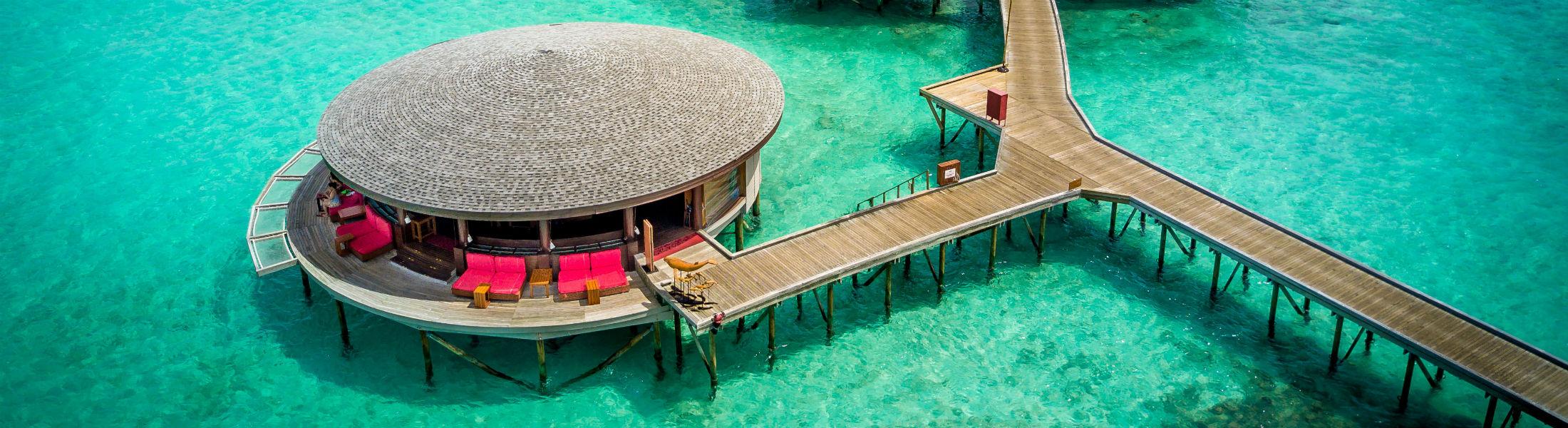 lounge villa at the Centara Ras Fushi Resort and Spa Maldives