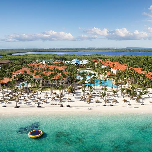 Main hotel at the Dreams Palm Beach Punta Cana