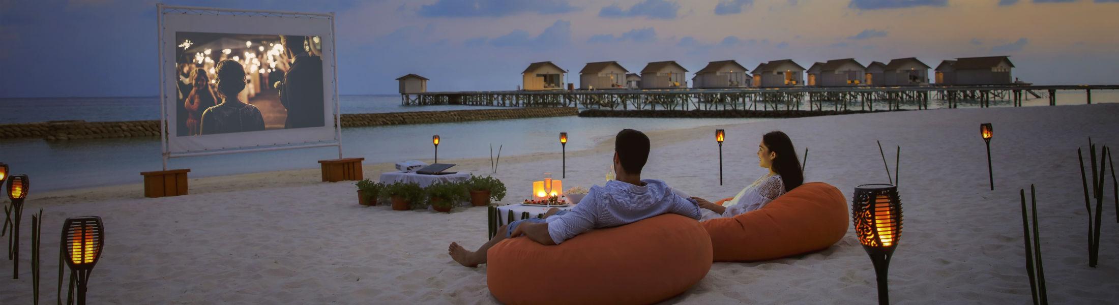 movie night at the Centara Ras Fushi Resort and Spa Maldives