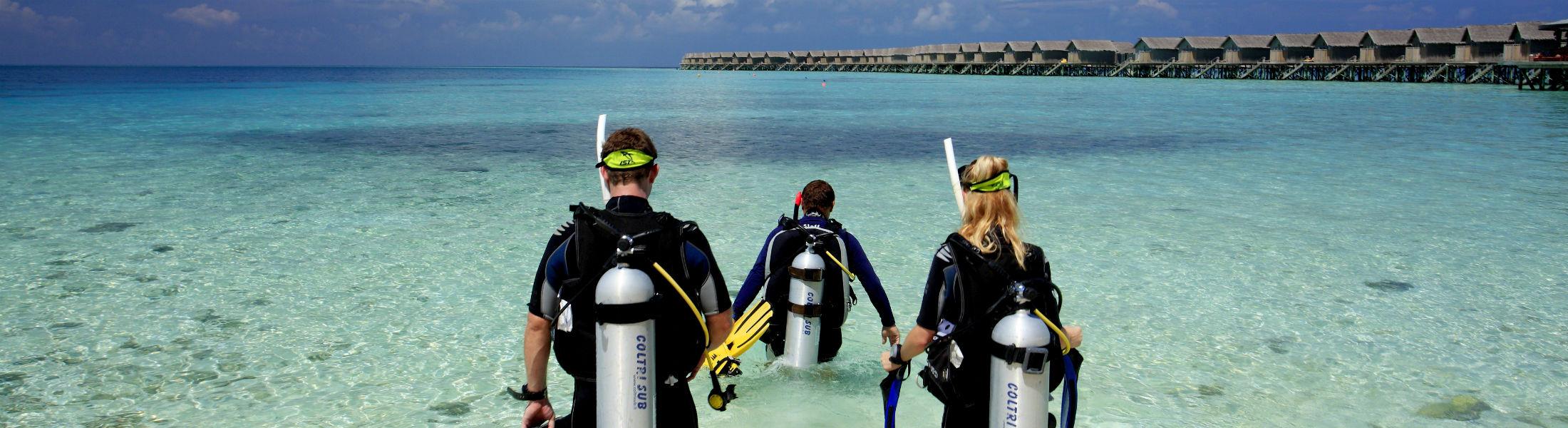 scuba diving at the Centara Ras Fushi Resort and Spa Maldives