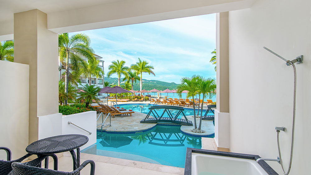 swimming pool at the Secrets Wild Orchid Montego Bay resort
