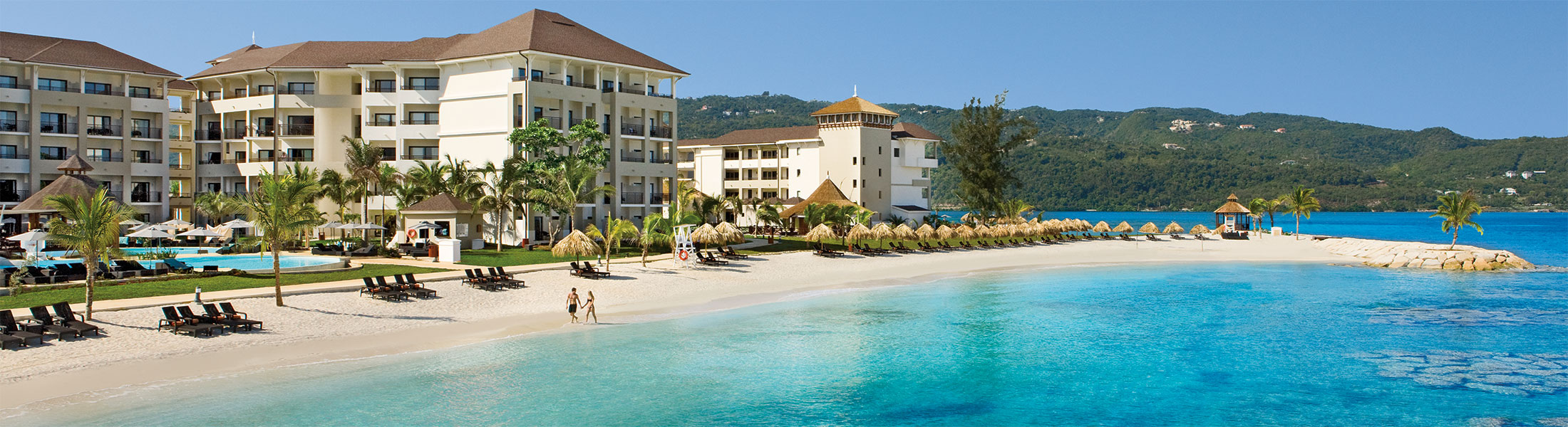 Private main-beach at the Secrets Wild Orchid Montego Bay