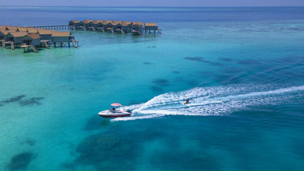 Speed boat at the Centara Ras Fushi Resort and Spa Maldives