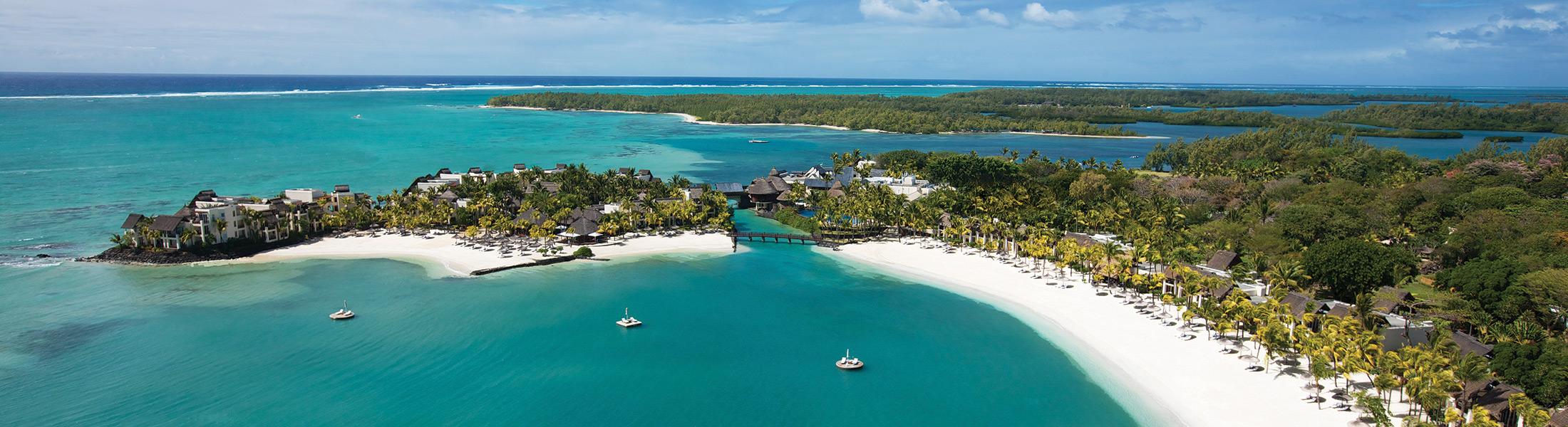 Aerial view of Shangri-La's Le Touessrok Mauritius