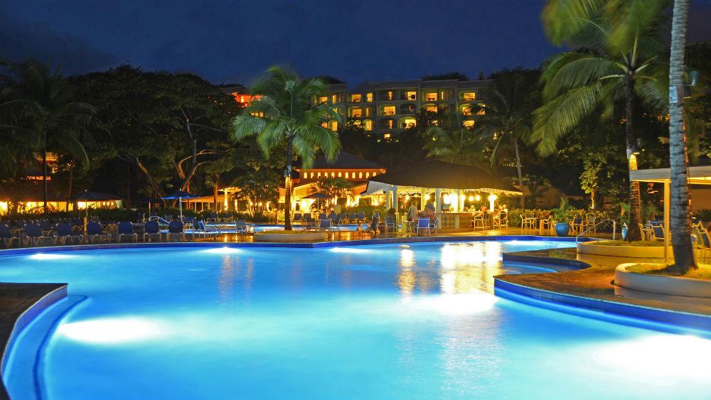 Beaches Pools Main Pool Night at the St James Club Morgan Bay