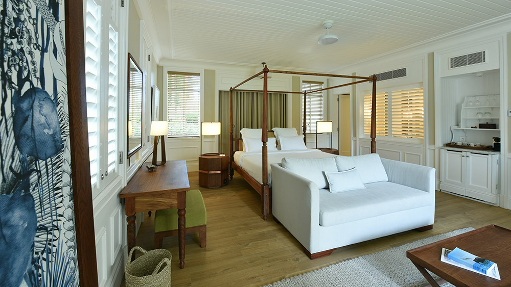 Bedroom of the Garden View Suite at Heritage Le Telfair