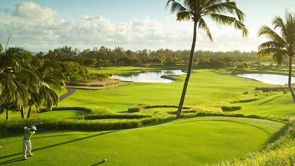 Golf course at Heritage Le Telfair Mauritius