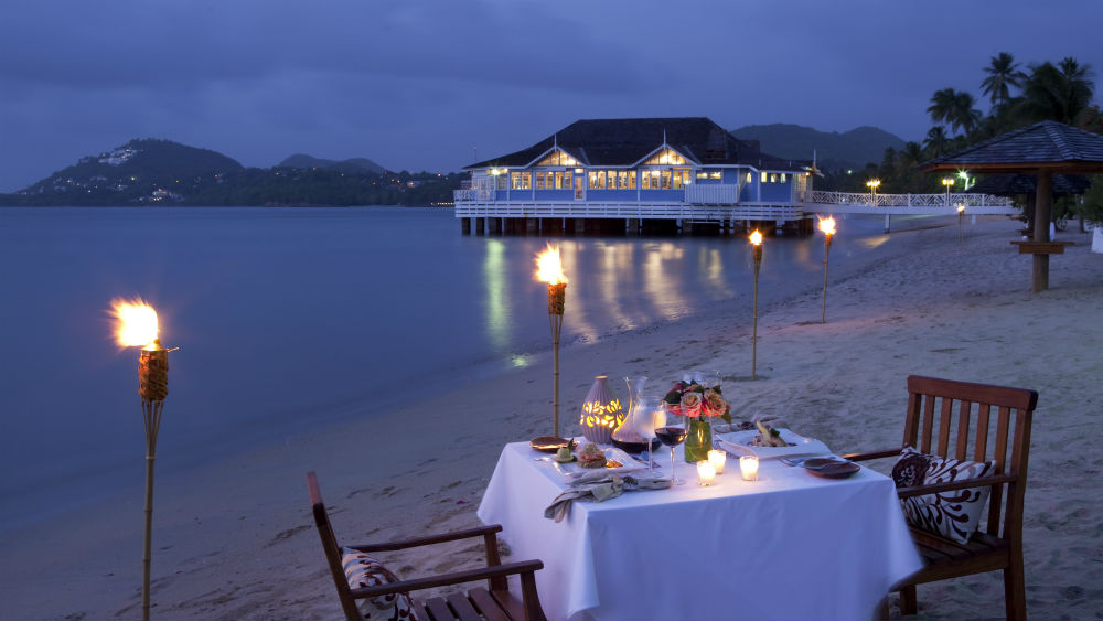 Halcyon Beach Dining at the Sandals Halcyon Beach