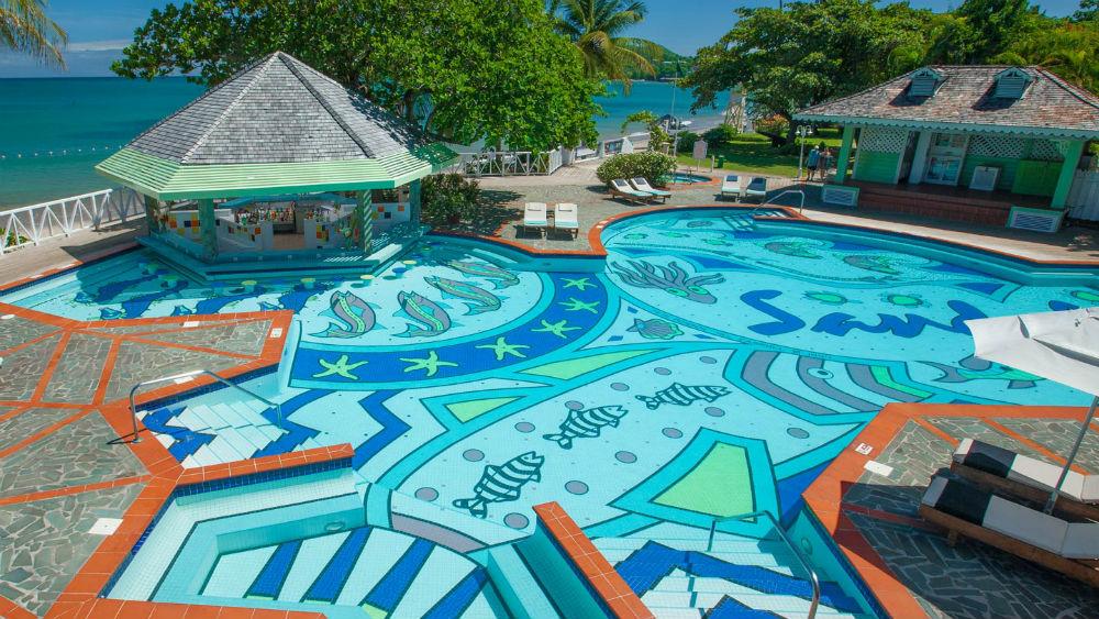 Halcyon Pool at Sandals Halcyon Resort