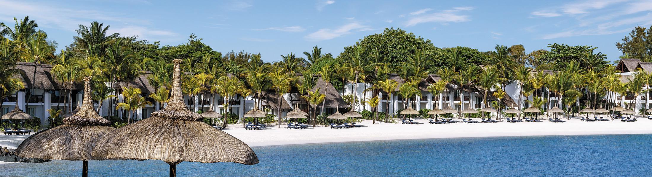 White sand beach at Shangri-La's Le Touessrok Mauritius