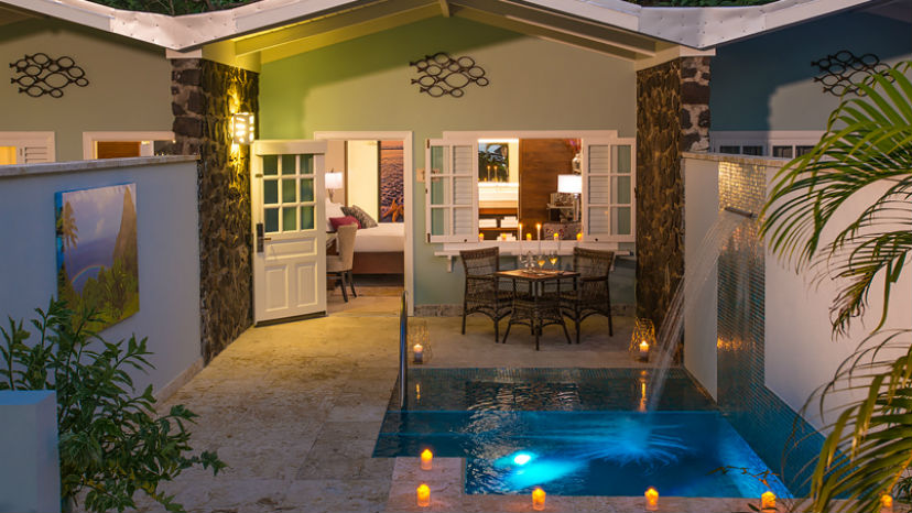 Honeymoon Butler Room w Private Pool Sanctuary at the Sandals Halcyon Beach