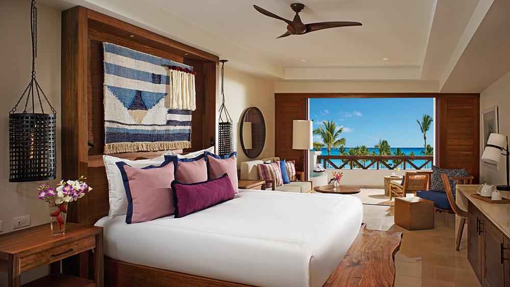Bedroom of the Junior Suite at Secrets Cap Cana Resort & Spa in Dominican Republic