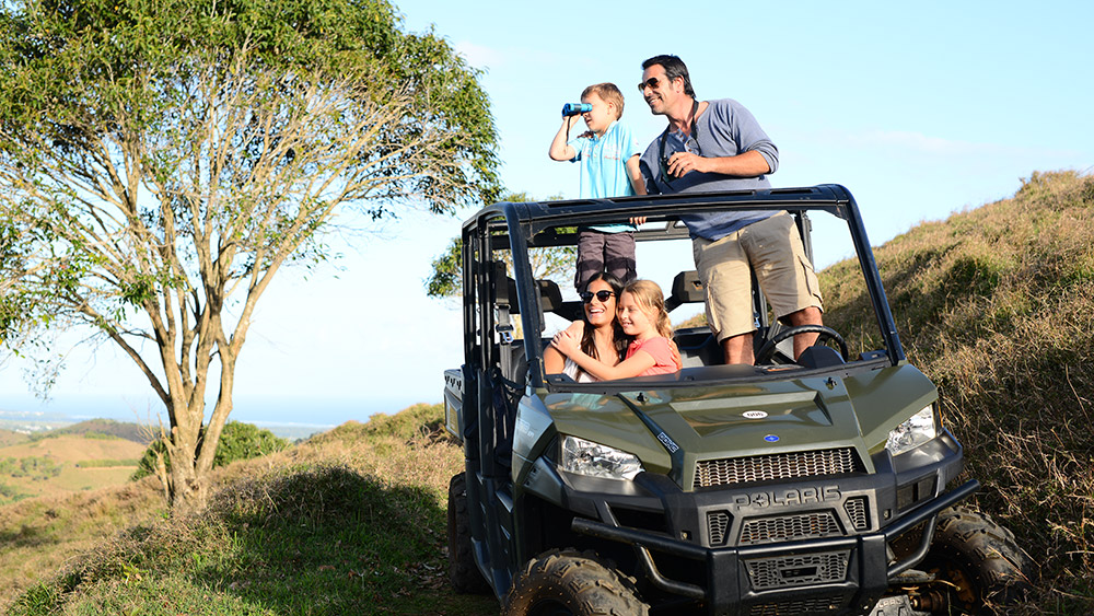 Family exploring the nature reserve at Heritage Le Telfair Mauritius