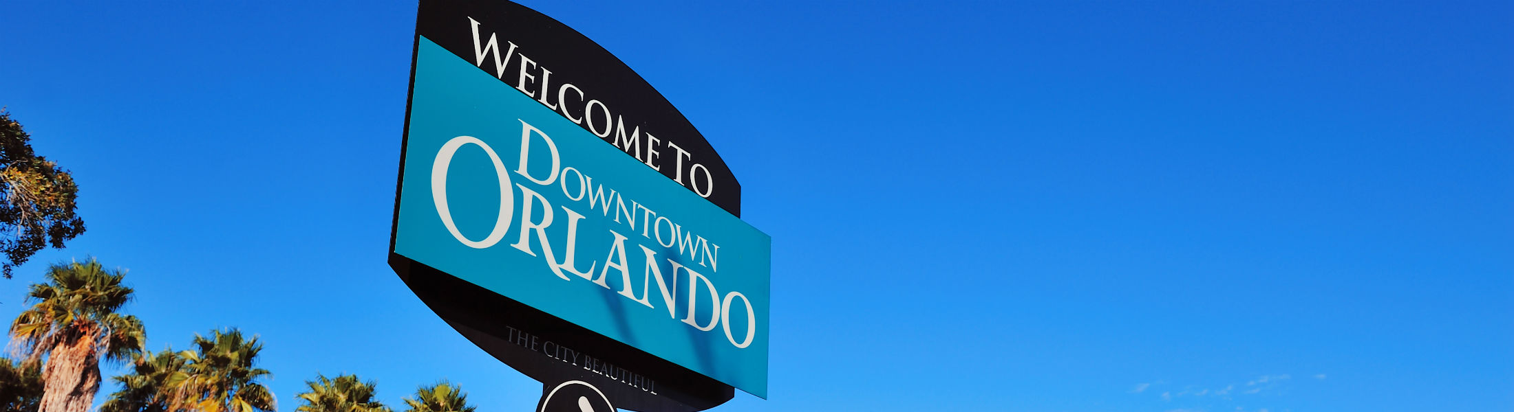 Orlando downtown welcome sign
