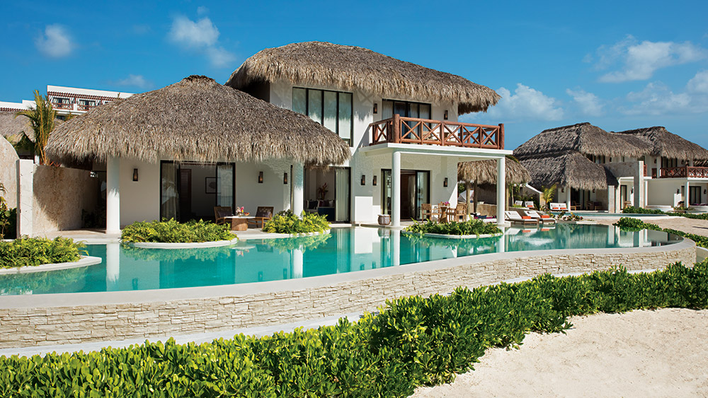 Exterior of the Preferred Club Bungalow Presidential Suite at Secrets Cap Cana Resort & Spa in Dominican Republic