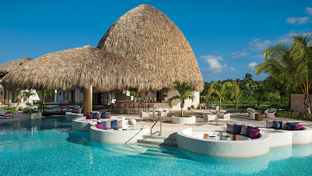Rosewater restaurant by the pool at Secrets Cap Cana Resort & Spa in Dominican Republic