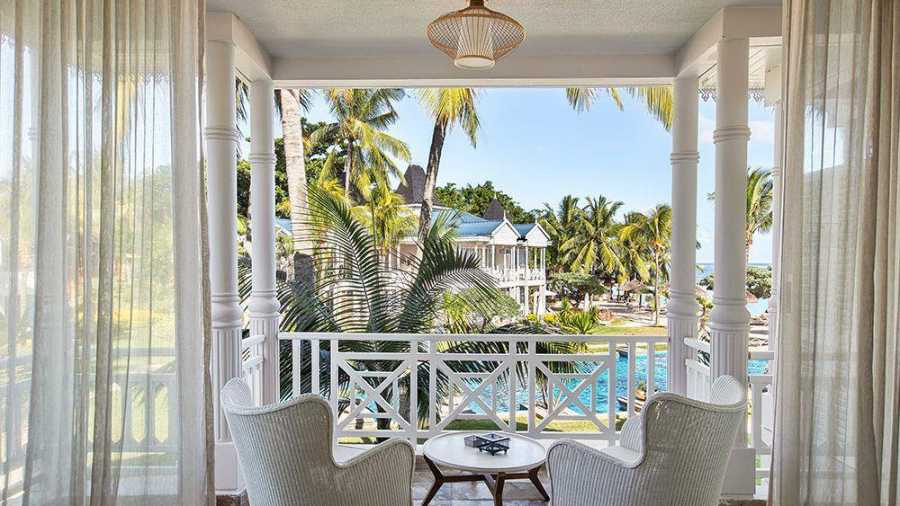 Balcony of the Seaview Suite at Heritage Le Telfair