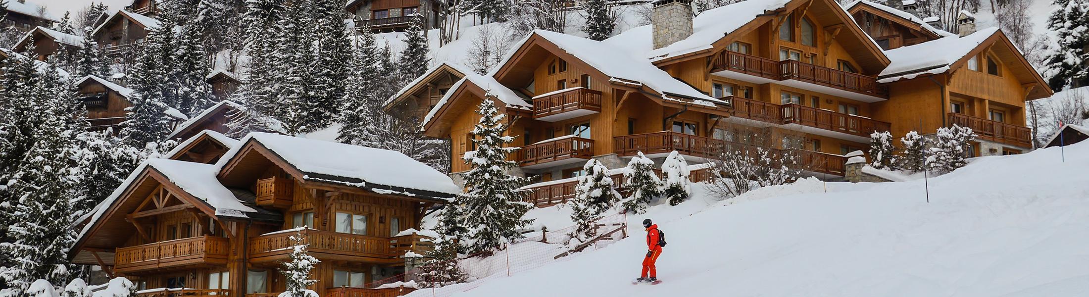 Ski resort and skier