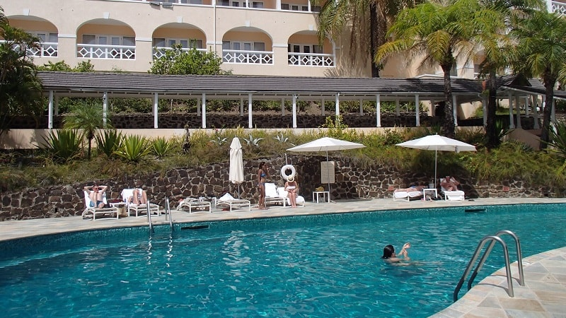 Outdoor pool at The BodyHoliday in St Lucia
