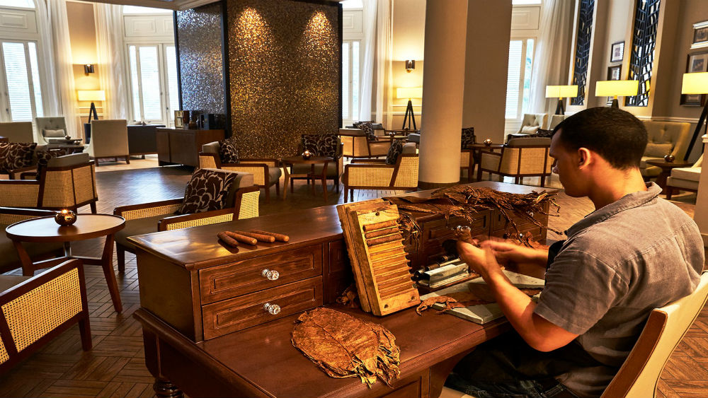 Tobacco Lounge cigar desk at the Gran Hotel Manzana Kempinski La Habana