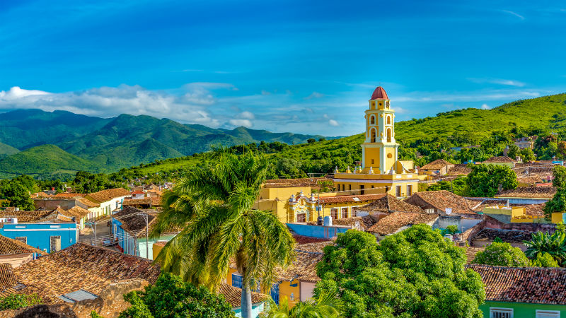 Trinidad de Cuba panoramic skyline