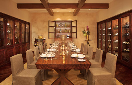 Dining table in the wine cellar at Secrets Cap Cana Resort & Spa in Dominican Republic