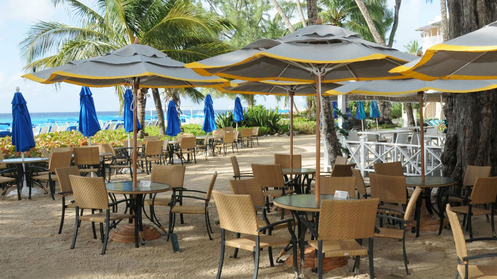 beach front restaurant at the Turtle Beach by Elegant Hotels