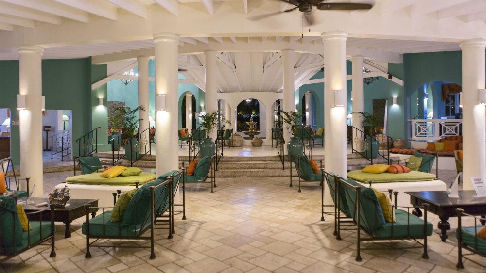 Lobby at the St James Club Morgan Bay