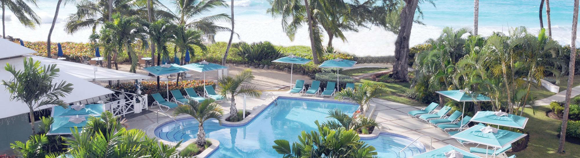 Main pool with ocean view at the Turtle Beach by Elegant Hotels