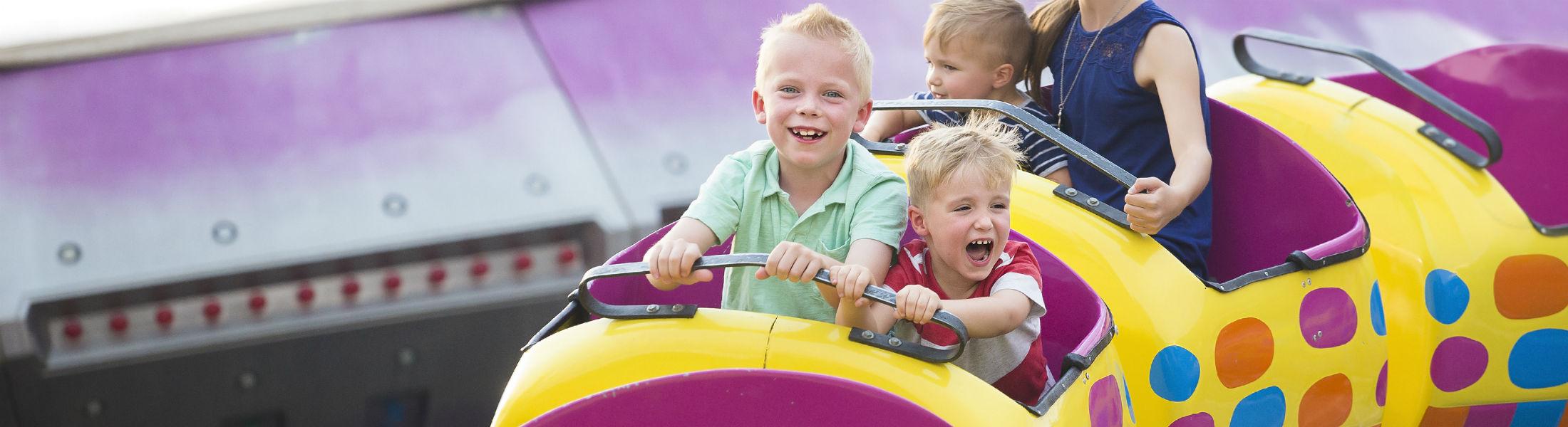 Roller coaster ride at an amusement park
