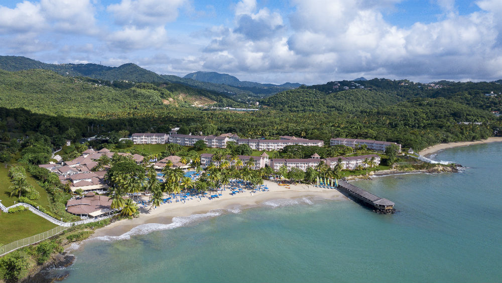 Aerial view of the St James Club Morgan Bay resort