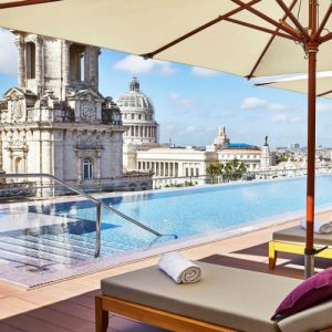 Pool bella habana day at the Gran Hotel Manzana Kempinski La Habana