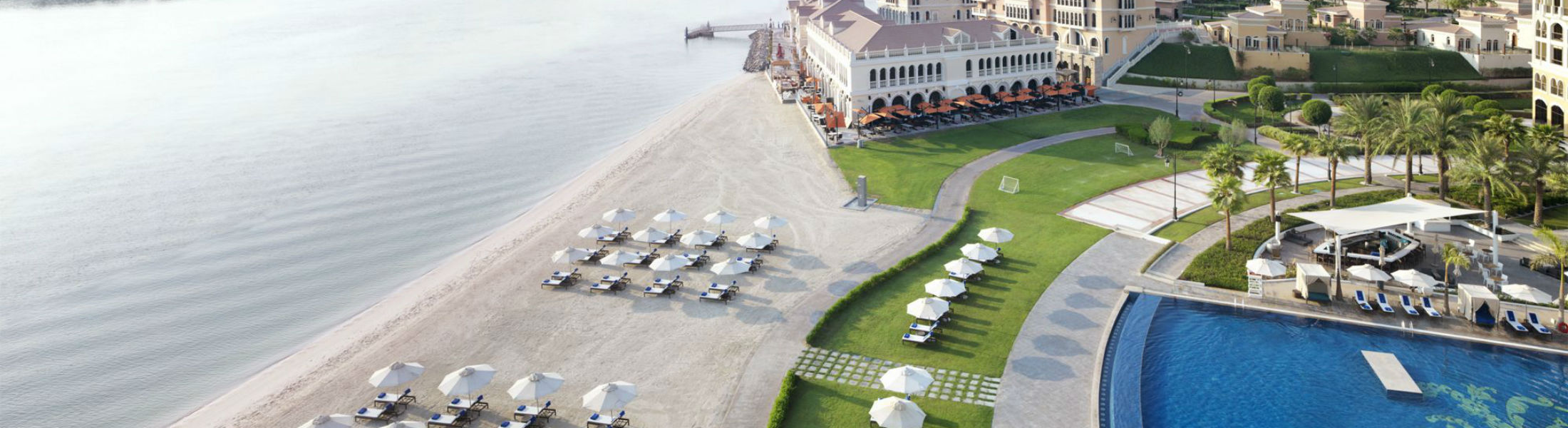Aerial Beach view Ritz Cartlon Abu Dhabi