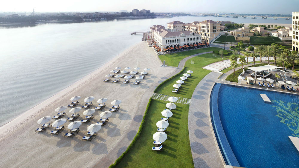 Aerial Beach view of the Ritz Cartlon Abu Dhabi