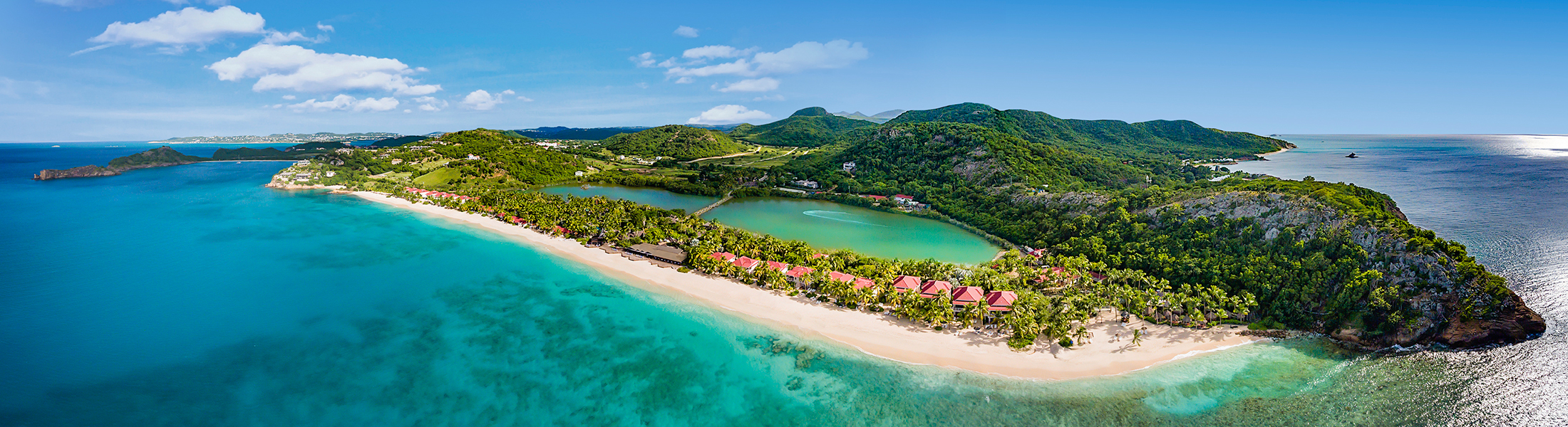 Aerial view of Galley Bay Resort & Spa