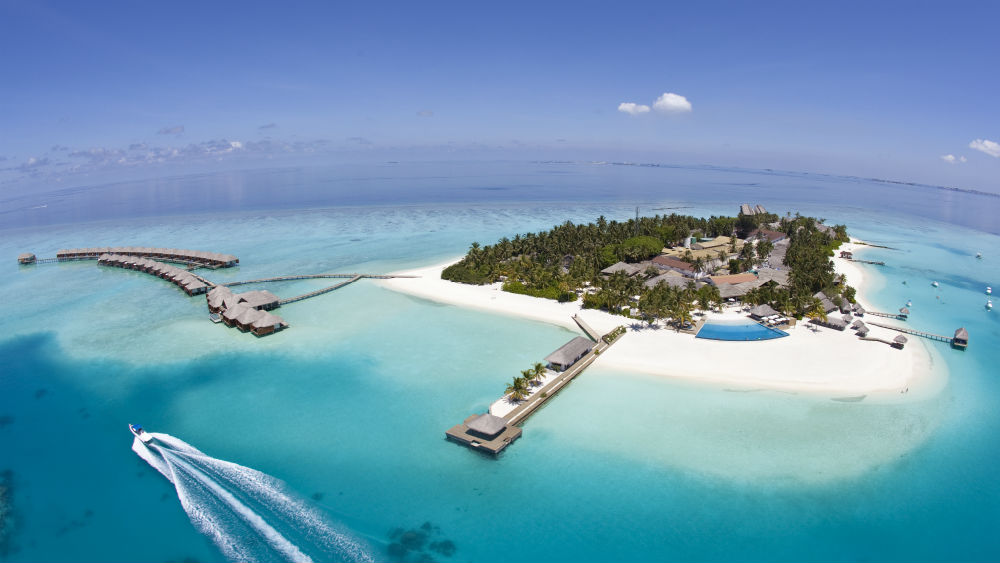 Aerial Overview of Velassaru Maldives