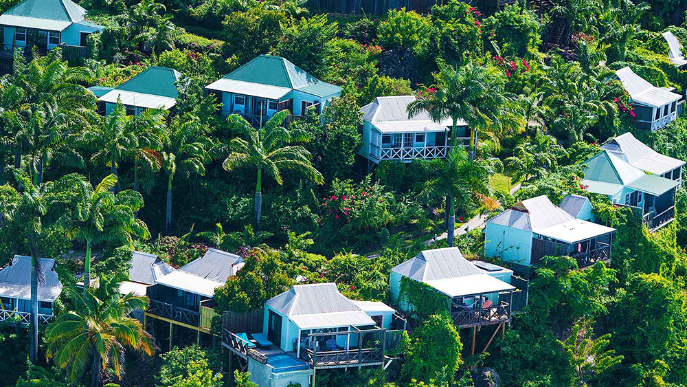 Aerial View of Cocos Hotel
