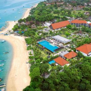 Aerial view at Fairmont Sanur Beach Bali
