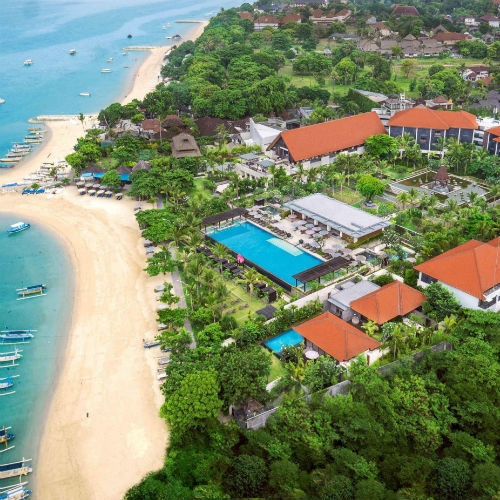 Aerial view at Fairmont Sanur Beach Bali