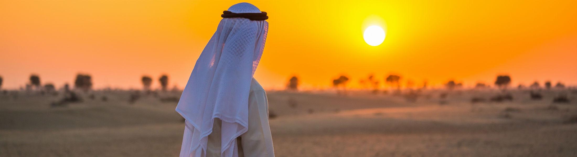 Arabian desert on a hot sunny day