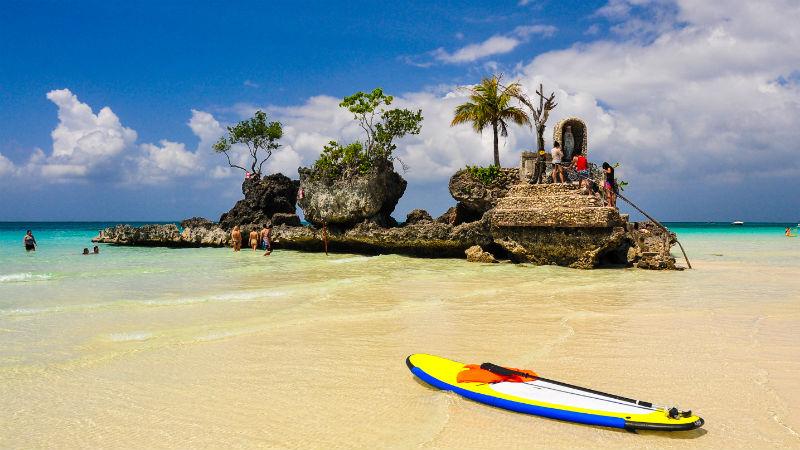 Boracay beach and the Christian Shrine