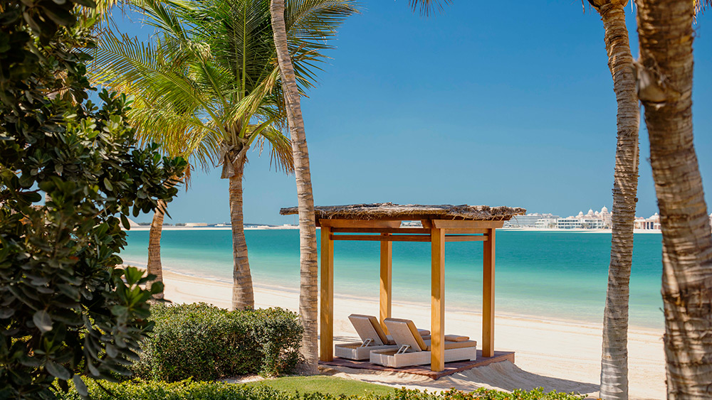 Cabana on the beach at Manor House at One&Only The Palm
