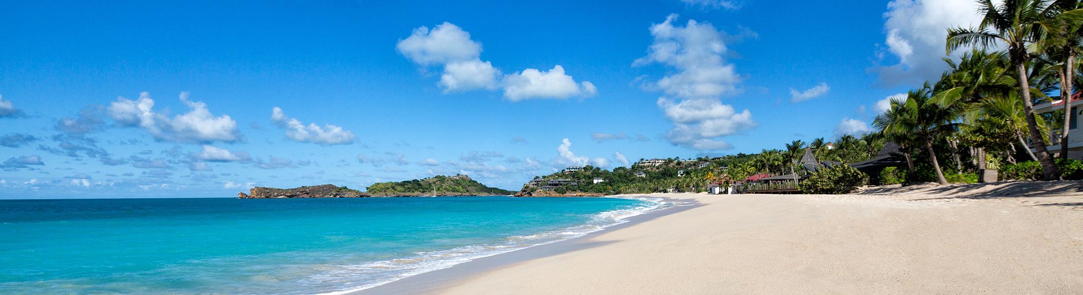 White sand beach at Galley Bay Resort & Spa