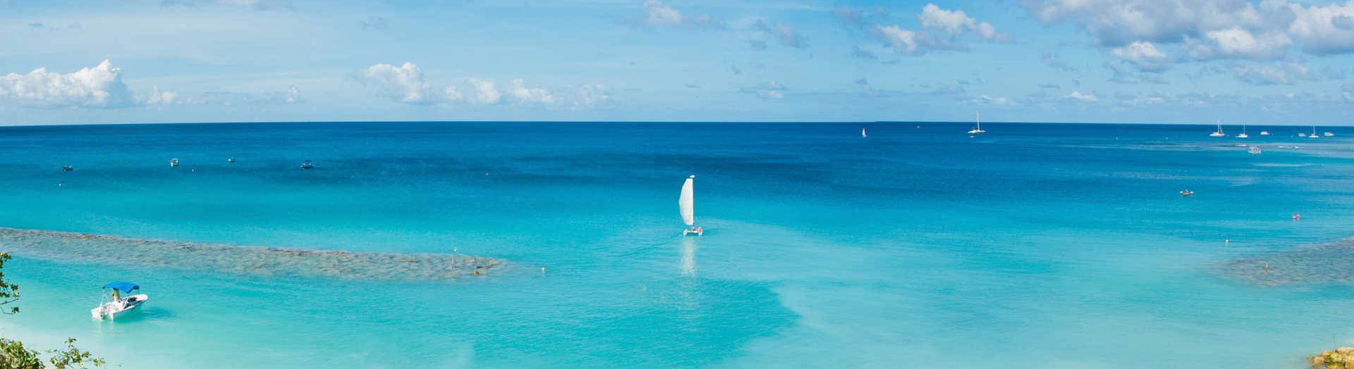 The beach at Mango Bay in Barbados