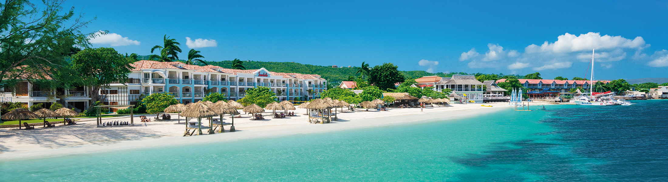Aerial view of Sandals Montego Bay