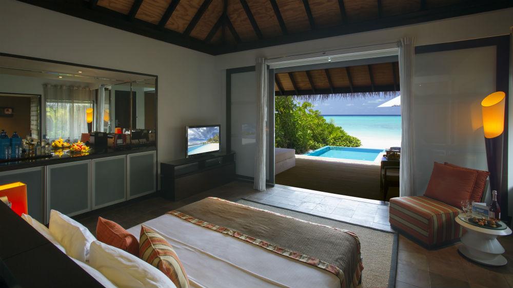 Beach Villa with pool at the Velassaru Maldives
