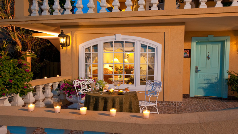 Patio of the Beachfront One Bedroom Butler Villa Suite at Sandals Montego Bay