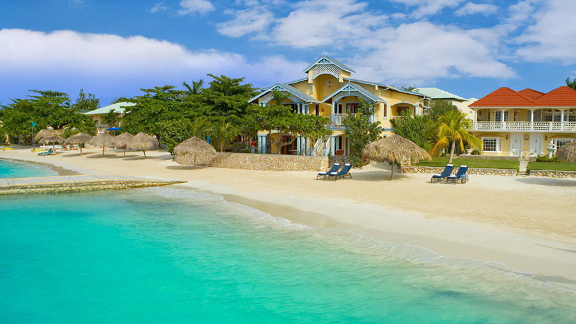 Exterior of the Beachfront Oversized Butler Villa Suite at Sandals Montego Bay