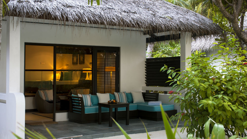 Deluxe Bungalow terrace Velassaru Maldives